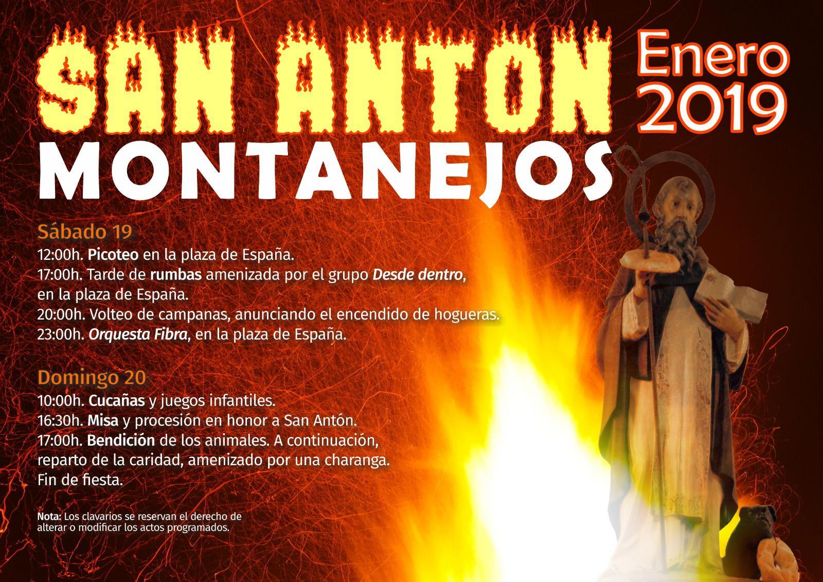 Los días 19 y 20 de enero disfruta San Antón en Montanejos